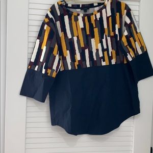 Cos blouse in navy